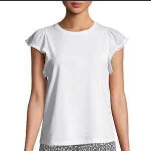 Kate spade New York white ruffle sleeve tee